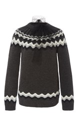 Red Valentino Nordic Crewneck Sweater Dark Grey