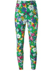 Kenzo Vintage Floral Jersey Trousers Green
