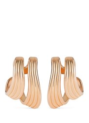 Fernando Jorge 'Stream Lines' 18K Rose Gold Double Hoop Earrings Metallic