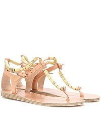 Ancient Greek Sandals Chrysso Leather Beige