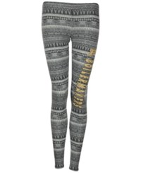 Concepts Sport Women's Purdue Boilermakers Comeback Tribal Leggings Charcoal Gray