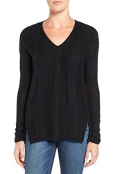 Velvet By Graham And Spencer Women's Mixed Stitch Sweater