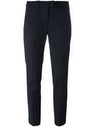 Dondup Cropped Trousers Blue
