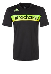 Adidas Performance Sports Shirt Black Neon Green Neon Orange