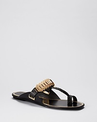 Rachel Zoe Open Toe Flat Slide Sandals Ida