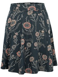 Fat Face Audrey Trailing Poppies Skirt Black