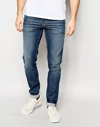 Pepe Jeans Powerflex Finsbury Superstretch Skinny Fit Big Twill Mid Blue Blue