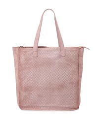 Day And Mood Burke Perforated Leather Shopper Tote Bag Rose Pink