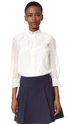 Marc Jacobs Button Up Blouse White