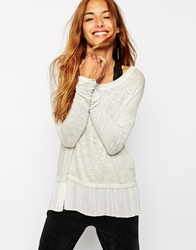 Abercrombie And Fitch Jumper With Woven Hem