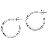Dower And Hall Sterling Silver Small Waterfall Hoops Silver