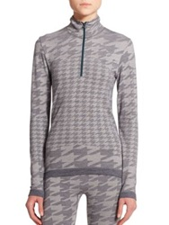Adidas By Stella Mccartney Houndstooth Printed Pullover Dark Grey
