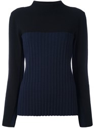 Cedric Charlier Ribbed Jumper Blue