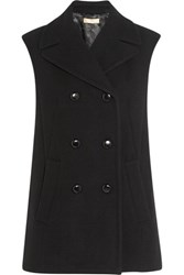 Michael Kors Collection Oversized Double Breasted Wool Vest Black