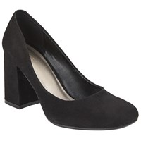 John Lewis Ayla Block Heeled Court Shoes Black