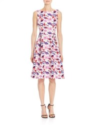 Teri Jon Floral Print Sleeveless Tea Dress Multi