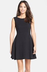 French Connection Women's Feather Ruth Fit And Flare Dress Black