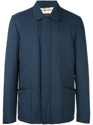 Loro Piana Quilted Effect Buttoned Jacket Blue