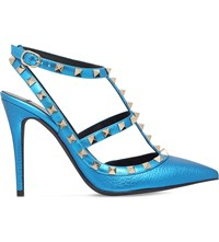 Valentino Rockstud 100 Leather Courts Turquoise