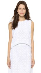 Jenni Kayne Lace Shell White