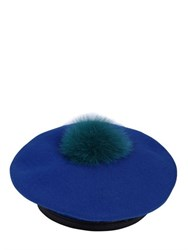 Eugenia Kim Hadley Wool Felt Beret With Fur Pompom