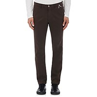 Mason's Men's Tricotine Stretch Cotton Pants Brown