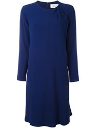 Gianluca Capannolo Gathered Detail Shift Dress Blue