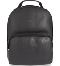 Hood By Air Leather Backpack Black