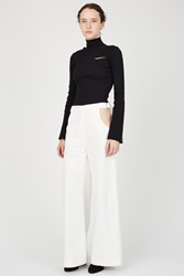 Marta Jakubowski Cut Out Corduroy Trousers White