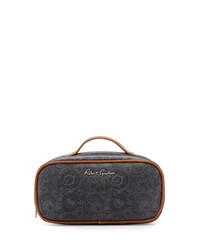 Robert Graham Faux Leather Toiletry Bag Black Paisley