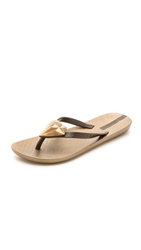 Ipanema Neo Bling Diamond Flip Flops Gold Brown