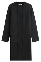 Jil Sander Fleece Wool Coat With Cashmere Blue
