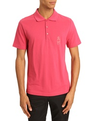 Carven Petit Bonhomme Raspberry Cotton Pique Polo