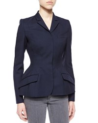 Stella Mccartney Wool Fit And Flare Jacket Navy