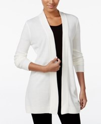 Karen Scott Open Front Sweater Cardigan Only At Macy's Only At Macy's Winter White