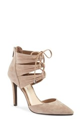 Jessica Simpson Women's 'Caleya' Lace Up Pump Totally Taupe Suede