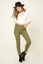 Forever 21 Zippered Skinny Pants