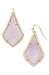 Women's Kendra Scott 'Alex' Teardrop Earrings Amethyst Gold