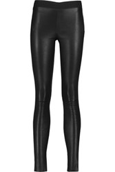 Muubaa Cowley Stretch Leather Leggings Black