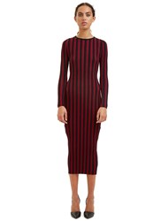 Altuzarra Amelia Striped Rib Dress Red