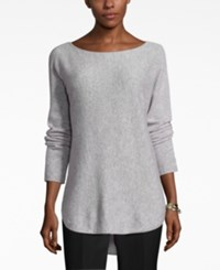 Charter Club Cashmere High Low Sweater Only At Macy's Heather Crystal
