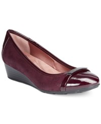 Giani Bernini Ambir Wedges Only At Macy's Women's Shoes Oxblood