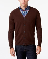 Weatherproof Vintage Men's Soft Touch Cardigan Only At Macy's Espresso