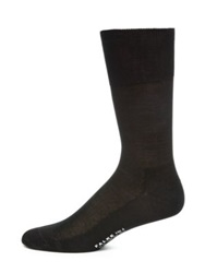 Falke Silk Ribbed Socks Black