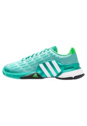 Adidas Performance Barricade 2016 Boost Outdoor Tennis Shoes Shock Mint White Solar Lime Green