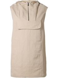 Nomia Sleeveless Hooded Top Nude And Neutrals