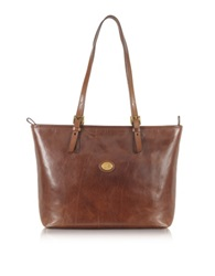 The Bridge Story Donna Large Brown Leather Tote