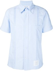 Thom Browne Shortsleeved Shirt Blue