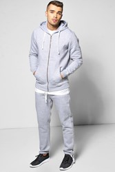 Boohoo Fit Hooded Tracksuit Grey