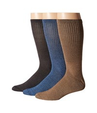 Sperry Soft Extreme Core Crew 3 Pack Black Multi Men's Crew Cut Socks Shoes